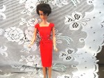 1962 barbie brunette red