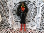 BLACK BARBIE RED BOOTS