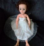 DNC AUBURN FASHION DOLL WHITE DRESS VIEW