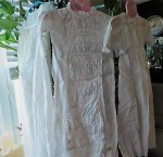 LONG WHITE RUCHED CHRISTENING GOWN 2