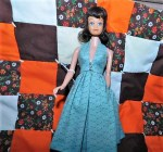 MIDGE BRUNETTE BLUE DRESS 5 MAIN
