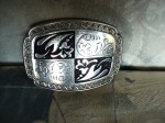 SILVER AND BLACK BUCKLE