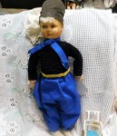 TALL GERMAN MACHE DOLL BLUE