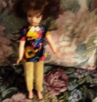 TAMMY DOLL TAN PANTS PRINT TOP