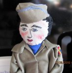WW2 SOLDIER BLACK HAIR FACE