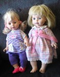 baby so beautiful two dolls pink purple