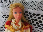 barbie blonde white costume face