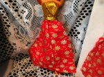 barbie red gold dress