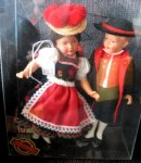black forest two dolls in container