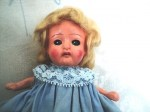 compo japan blonde doll top blue dress