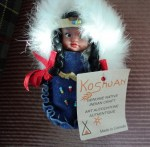 native souvenir doll blue