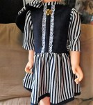 playpal blue stripe dress