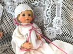 porcelain baby doll white gown