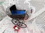 retro doll carriage blk