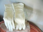 silvery gloves