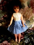tammy doll blue dot dress