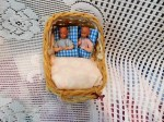 wicker doll carriage 2 dolls a